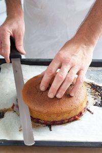 Torta rovesciata lamponi e pistacchi | tortaoragione.it