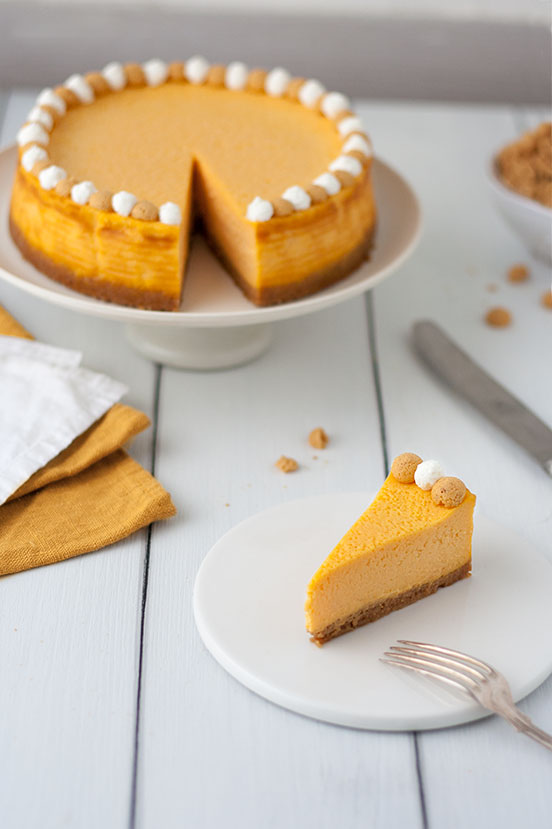 New York Cheesecake Zucca Amaretti e Ginger | tortaoragione.it