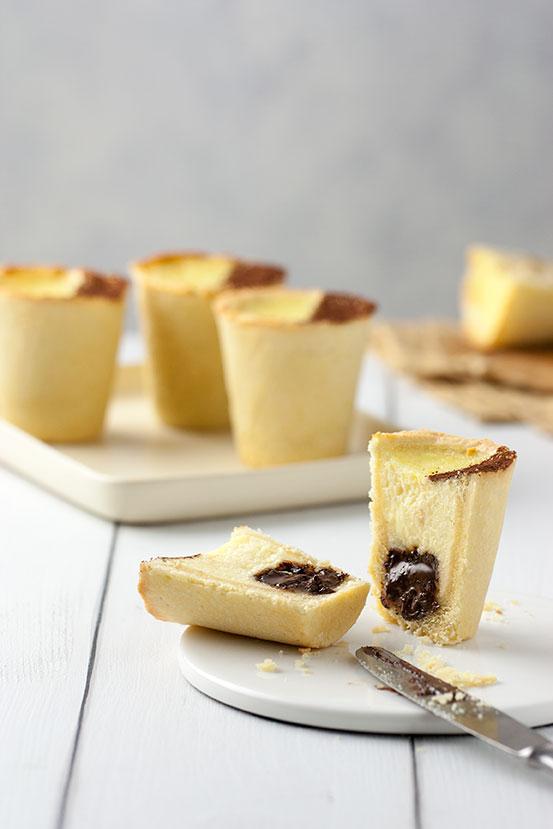 Bicchierini di frolla Crema Ricotta e Cioccolato | tortaoragione.it