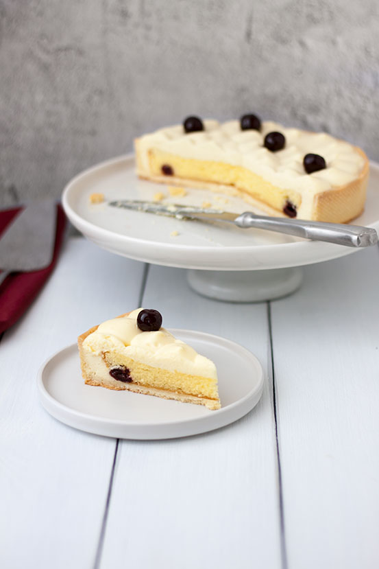 Crostata crema diplomatica e amarene | tortaoragione.it